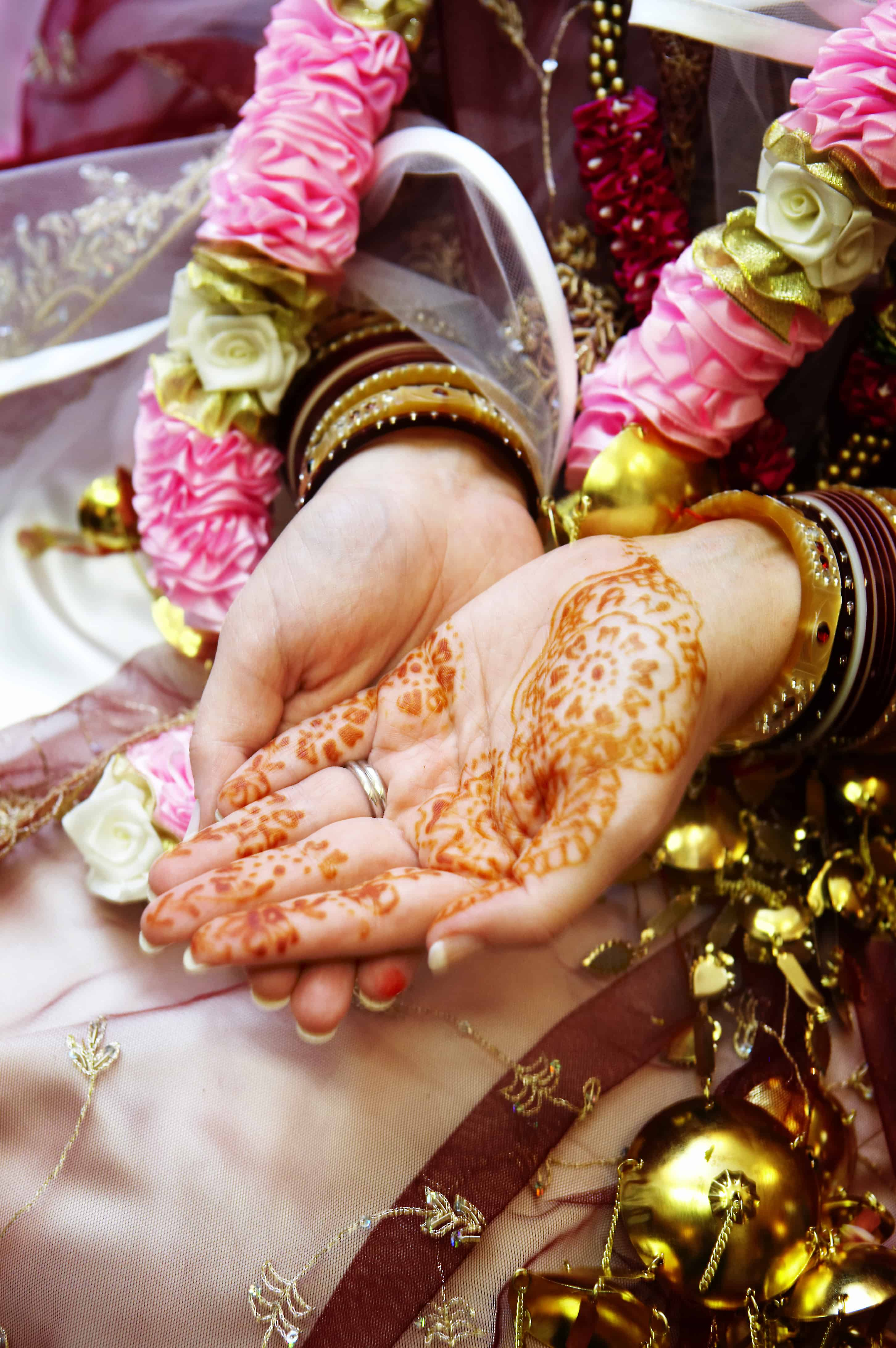 Indian Wedding hand painting